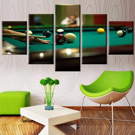 SANHAOZLH 5 Unidades de Billar Cartel Impresiones HD Tenis ...