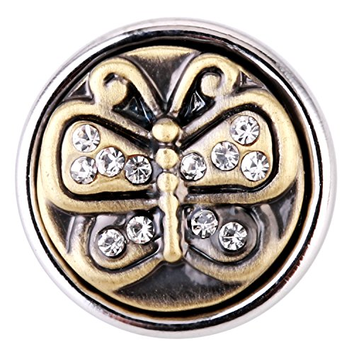 Morella ® pour petit click-button lot de 3 boutons pression pour bijou femme à motifs ø 12 mm vinage motif blason porte-bonheur