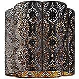 Lampe à suspension d'intérieur thème marocain, Métal, Marron chocolat doré