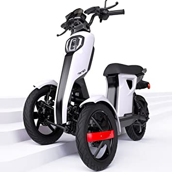 iTango Scooter electrico Adulto con asiento - Patinete eléctrico con Tres Ruedas APP Bluetooth (hasta