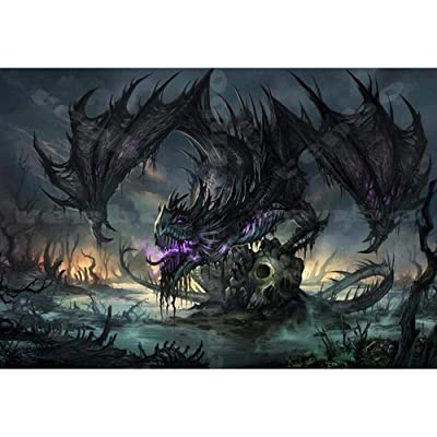 Adults Wooden Jigsaw Puzzle 1000 Pieces Fantasy Dragon Children Leisure Creative Puzzle Games Art Toys Puzzles: Toys & Games