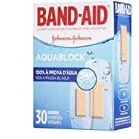 Curativos Adesivos Aquablock, Band-Aid, 30 Unidades