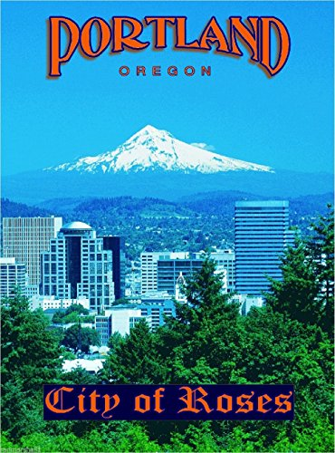 MAGNET Portland Oregon Mt. Hood United States America Travel Art Magnet Advertisement
