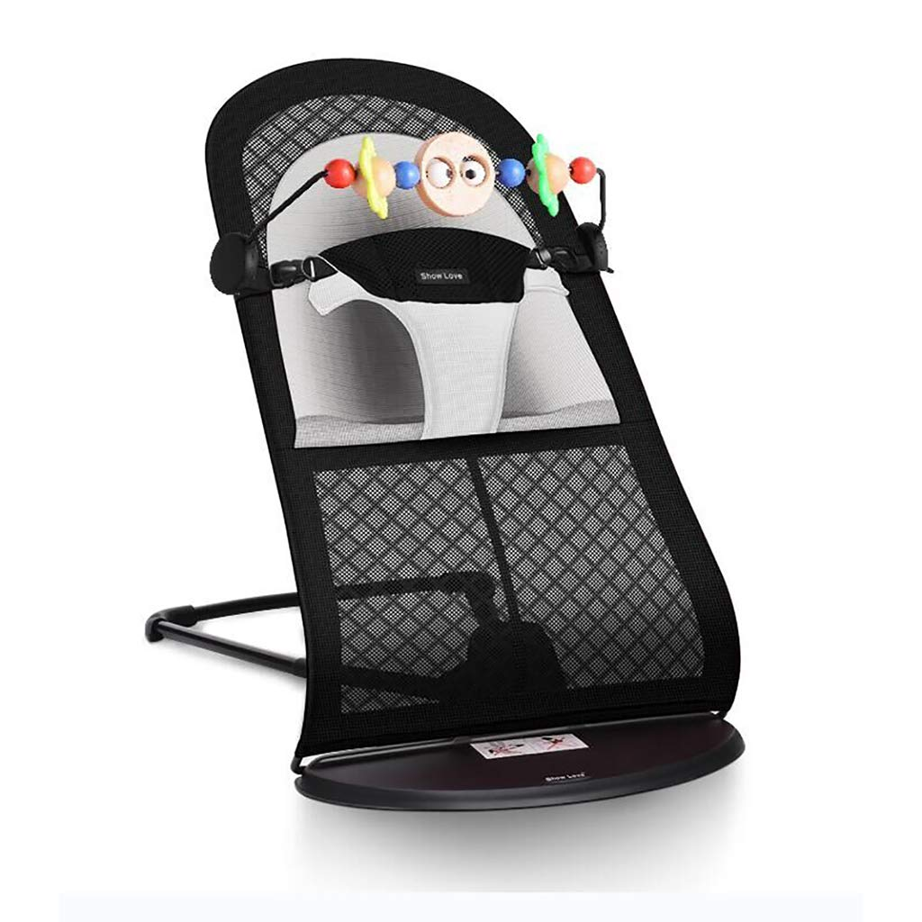 Baby bouncer Balance Soft, Baby Chair The Children's Bouncing Cradle (5 colors, Mesh) (Color : B)
