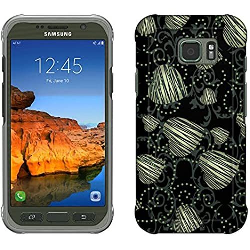 Samsung Galaxy S7 Active Case, Snap On Cover by Trek Falling Hearts on Black Slim Case Sales