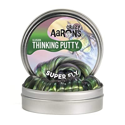 Crazy Aaron's Thinking Putty, 3.2 Ounce, Super Illusions Super Fly: Toys & Games