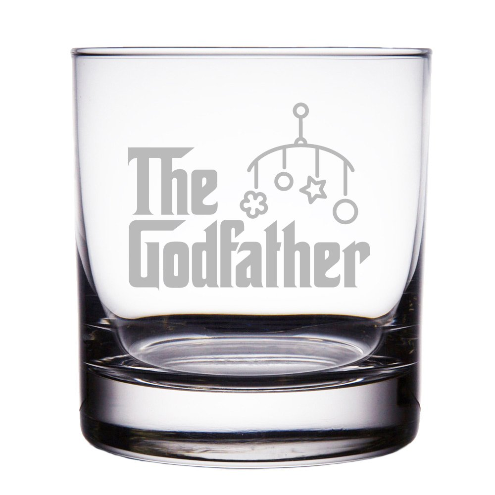 The Godfather Baby Gift Engraved 10 oz Rock Glass