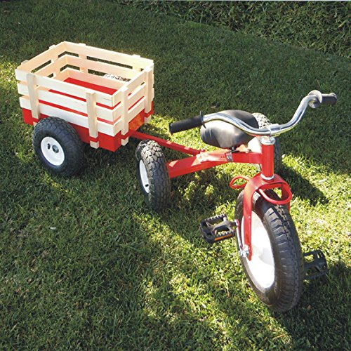 All Terrain Tricycle with Wagon (Red), #CART 042R
