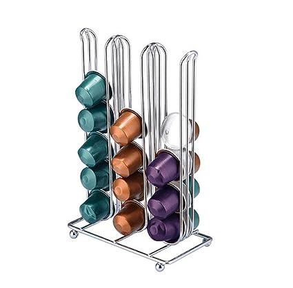 Qilicz - Dispensador de cápsulas y soporte para cápsulas Nespresso, para 36 cápsulas, soporte