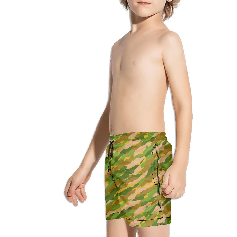 XULANG Kids Army Military Camo Board Shorts Surf Swimming Stretch Boardshorts