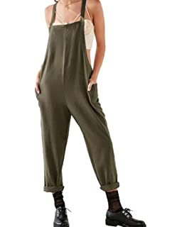 a1803b88ca Jacansi Women Casual Sleeveless Jumpsuit Playsuit Trousers Pants Pockets  Dungarees UK 6…