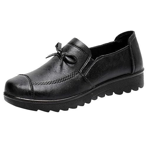 Zapatillas de Moda para Mujer Casuales con arvejas y Guisantes Mocasines de Cuero sin Cordones Unos: Amazon.es: Zapatos y complementos