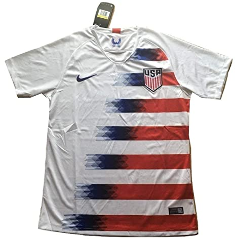 60e2edebc867e Amazon.com : Scshirt Men's USA National Team 2018-2019 Home Soccer ...