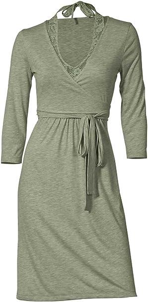 Heine Damen Kleid Two In One Kleid Grun Grosse 38 Amazon De Bekleidung