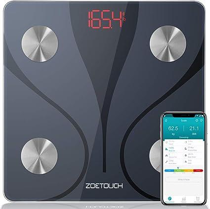Amazon.com: ZOETOUCH Báscula de grasa corporal con ...