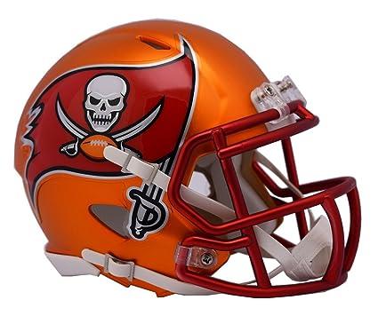 96bc0305c0c6c Amazon.com   NFL Tampa Bay Buccaneers Alternate Blaze Speed Mini Helmet    Sports   Outdoors