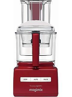 Magimix CS 5200 XL 1100W 3.6L Rojo - Robot de cocina (3,6 L, Rojo, Botones, 2 discos, 1100 W, 210 mm): Amazon.es: Hogar