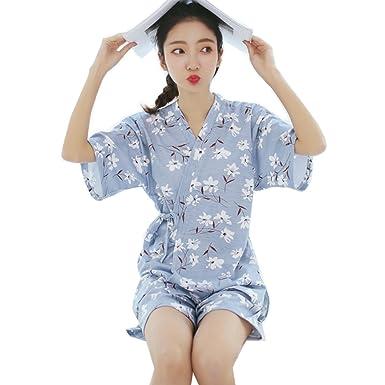 2239f52c7902c0 [テンカ]パジャマ レディース 綿 春夏 半袖 前開き 上下セット かわいい エレガント 女性