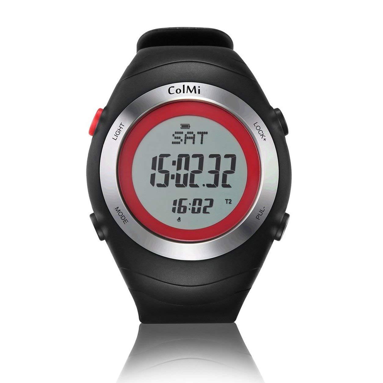 Dailyinshop ColMi Schnell laufende Sport Smart Watch Wasserdicht Herzfrequenz Schritte Kalorien (Farbe  rot)