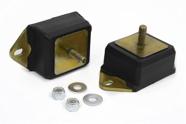 Daystar, Jeep CJ5 Polyurethane Motor Mounts AMC 256 6 Cylinder, Pair, Black, fits 1964 to 1986 4WD, KJ01002BK, Made in America