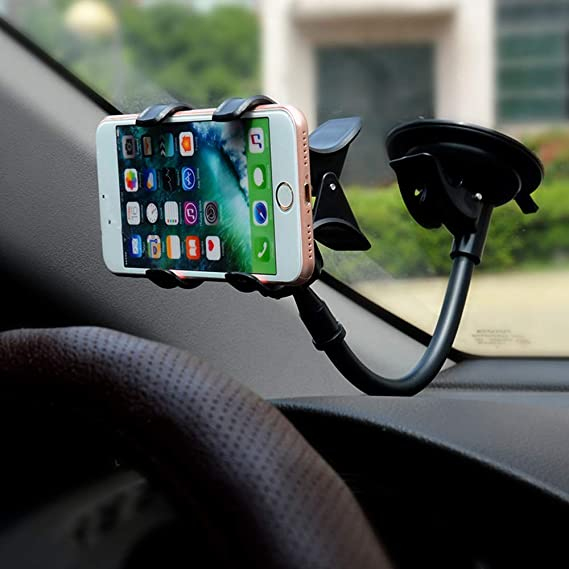 4164432d06cee9 Image Unavailable. Image not available for. Color: Flylet Universal  Adjustable Car Phone Mount with Strong ...