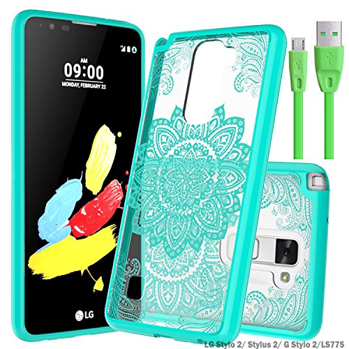 check out de65d 090c0 LG Stylo 2/ Stylus 2/ G Stylo 2 Clear Case With Micro USB 2.0,Wtiaw ...