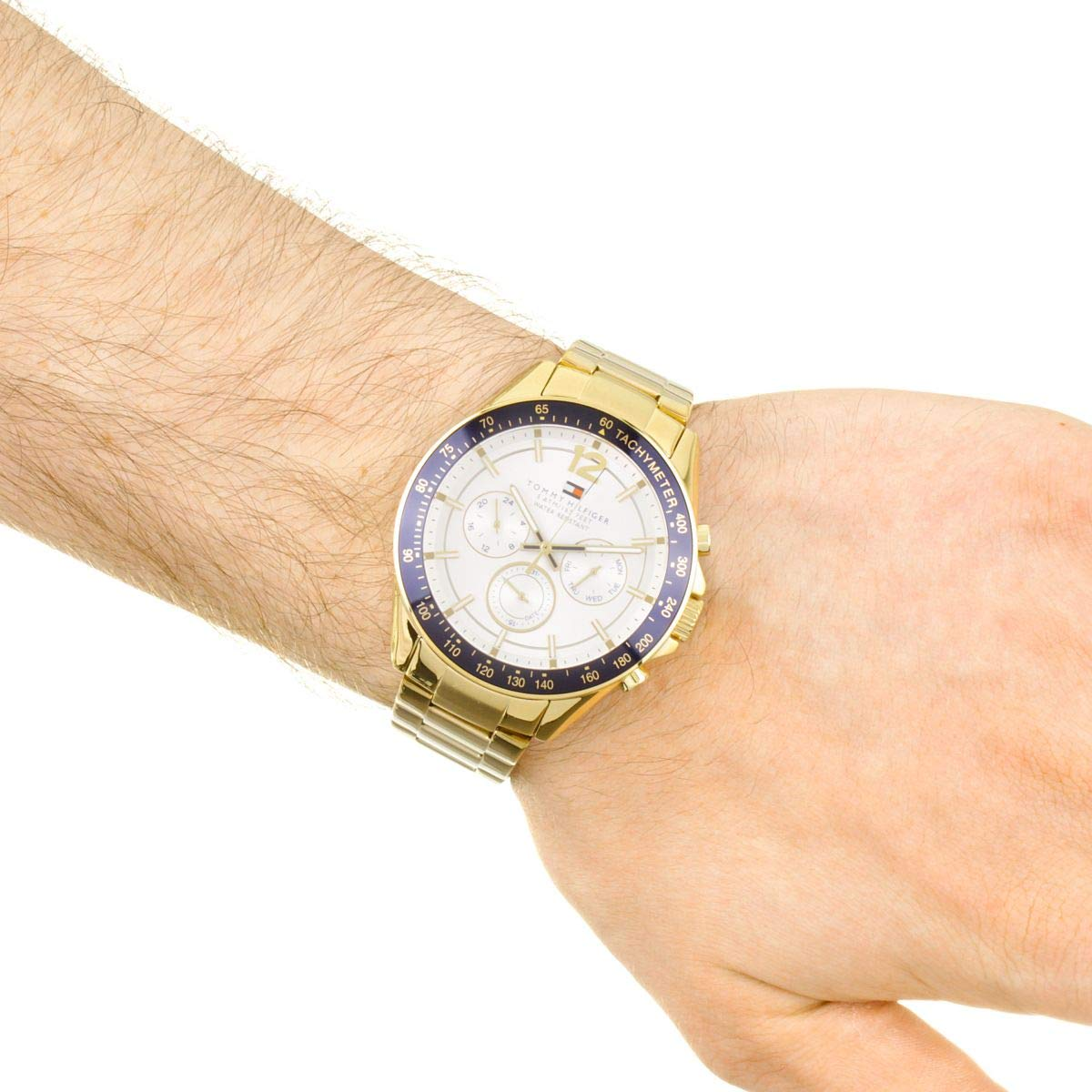 a5b0eb87bf Tommy Hilfiger Mens Quartz Watch, multi dial Display and Stainless Steel  Strap 1791121