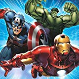 16 Count Avengers Beverage Napkins, Multicolored
