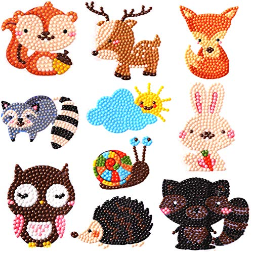 A Kind Painting - 400 magic 5D DIY Diamond Painting Kits for Kids Diamond Kits Paint by Numbers Diamonds - Animal Sticker