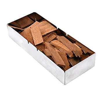 Caja de acero inoxidable - Barbacoa para asar barbacoa virutas de madera de Gas o carbón parrillas: Amazon.es: Hogar