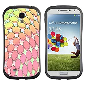 LASTONE PHONE CASE / Suave Silicona Caso Carcasa de Caucho Funda para Samsung Galaxy S4 I9500 / Modern Computer Art Wallpaper Pink Yellow