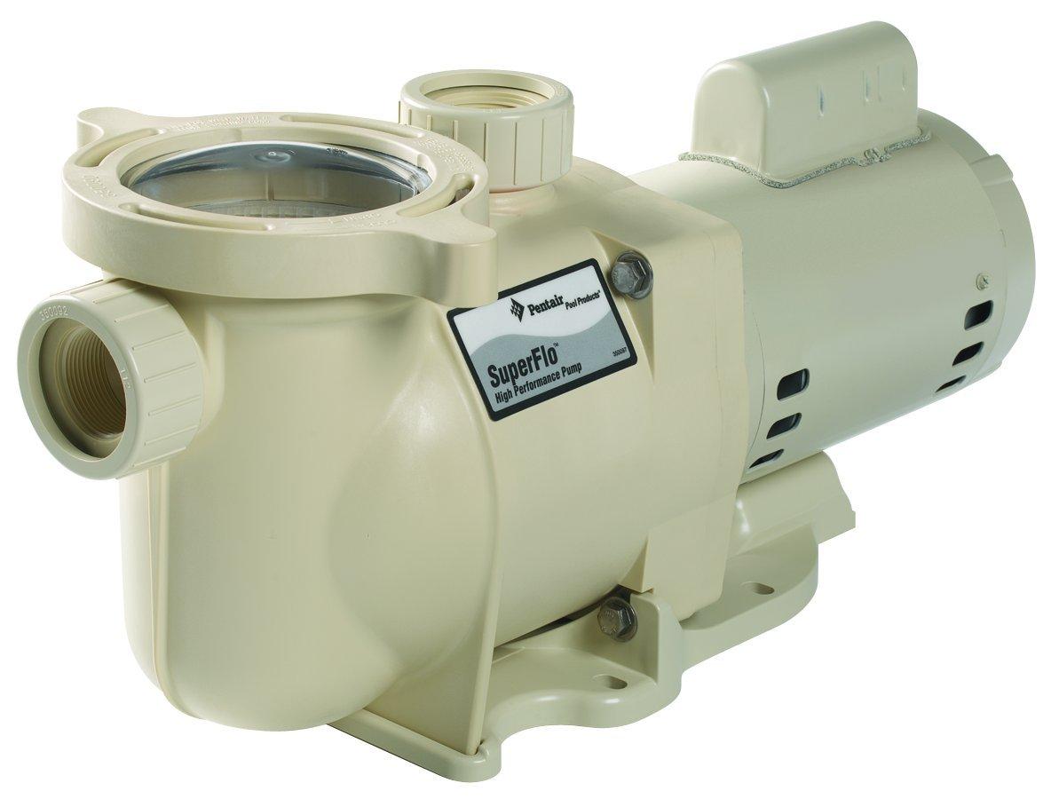 Pentair 340041 SuperFlo High Performance Single Speed Pool Pump, 2½ Horsepower, 230 Volt, 1 Phase