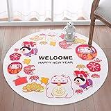 LIUXINDA-DT Christmas circular carpet, bedroom carpet, room carpet, household carpet,100cm/39.3'',white
