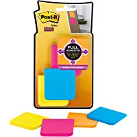 Post-it Super Sticky Full Adhesive Notes Assorted Brights 50 x 50mm F220-8SSAU (Pack of 8)