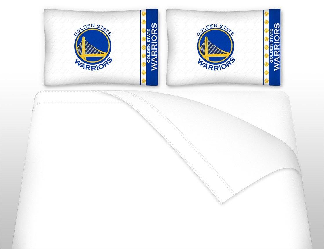 5pc NBA Golden State Warriors Queen Bedding Set Basketball Team Logo Comforter and Sheet Set