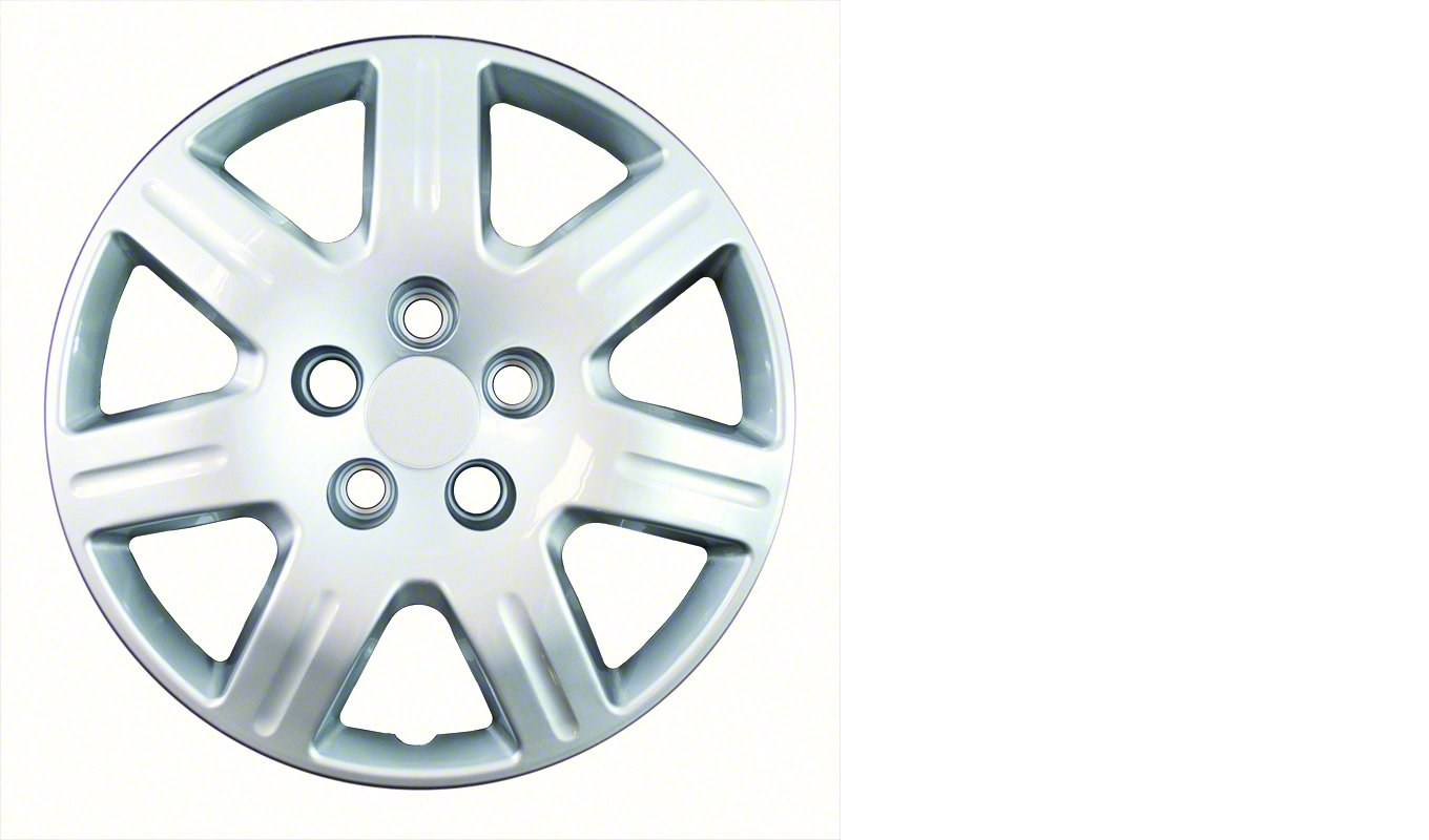 2006-2011 Honda Civic Silver 16'' Silver Bolt On Hubcaps (Set of 4)