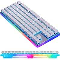 GANSS Rainbow RGB Backlit Wired Mechanical Gaming Keyboard,Ganss G.S 87 PRO [Cherry MX-RED Switch]