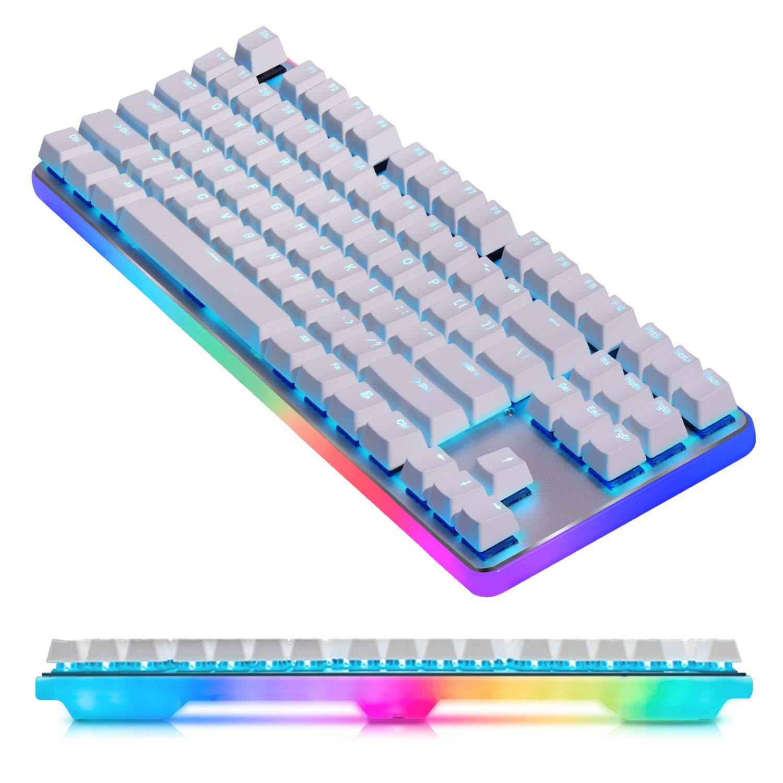 para Jugadores de PC /& Mac y Mecan/ógrafo GANSS Gaming Teclado de Panel de Aluminio Cherry MX Silent Red Lineal /& Cambio R/ápido Teclado Mec/ánico Retroiluminado RGB de 360/° QWERTY Layout