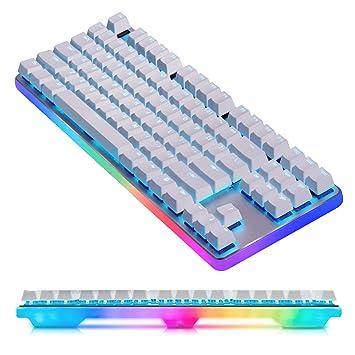 TKL 87 Teclas RGB Gaming Teclado Mecánico Brillante Pasante USB & Control de Medios - Lineal