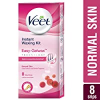 Veet Full Body Waxing Kit with Easy-Gelwax Technology for Normal Skin - 8 Strips