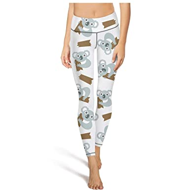 be201842f2b98 Color: Women's Koala Leggings Koala Hugging Tree Elasticity High Waist Gym  Attire