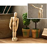 Drawing art figure mannequin manikin wooden model for sketching charcoal Kids children posable educational toys Home Office Desk Decoration 8''Couple set