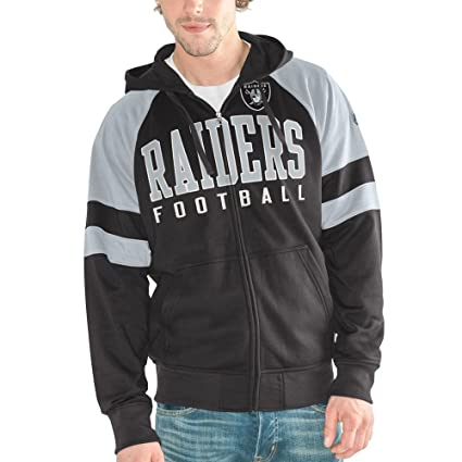 59468545 Oakland Raiders Men's League Full Zip Hooded Sweatshirt