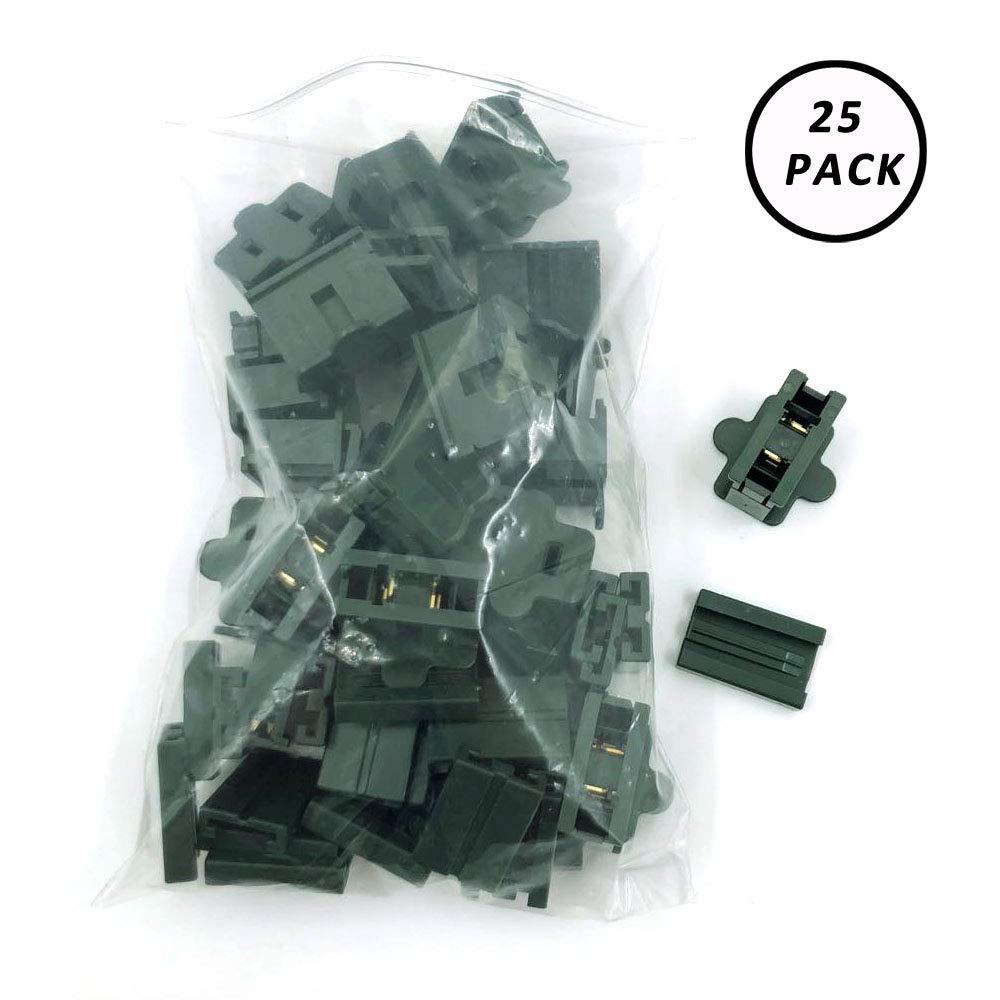 Aniai (25) Pack Zip Plug - Male Female Gilbert plug - Vampire plug SPT-1 SPT-2 (spt1 female, Green)