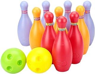 Big Ensemble de Boule de bowling en plastique, 2balles et 10broches, coloré 2balles et 10broches coloré Blancho Bedding
