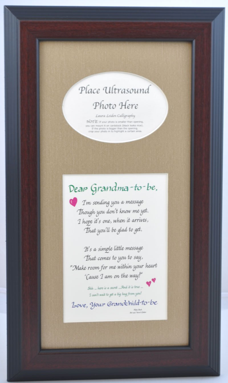 Amazon grandma to be ultrasound picture frame 8x10 sonogram amazon grandma to be ultrasound picture frame 8x10 sonogram gift grandmother grandparent choose your mat color and frame black frame burlap mat negle Images