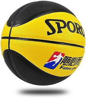 C.N. Élèves du Primaire et du secondaire PU entraînement Basket-Ball Maternelle Performance Basket-Ball,Jaune et Noir,Numéro 5