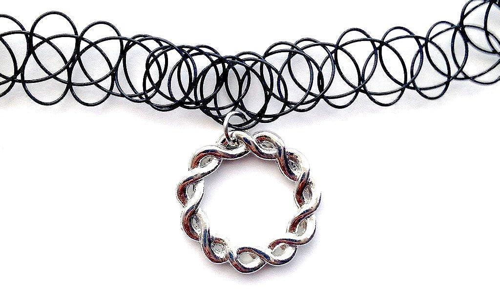 Círculo de trenzado de Gargantilla collar del encanto del tatuaje ...