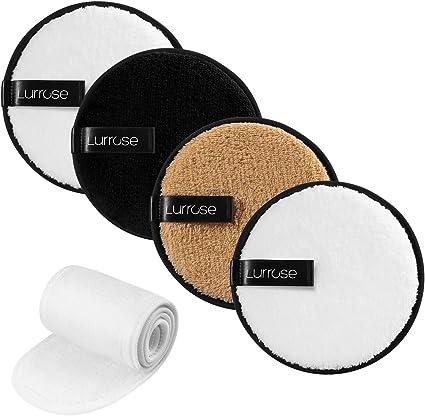 Lurrose 4PCS Almohadillas desmaquilladoras reutilizables de ...