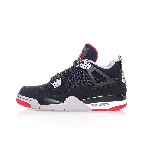 Sneakers UOMO NIKE Air Jordan 4 Retro 308497.060 (44 060 Black Fire Red Cement Grey)